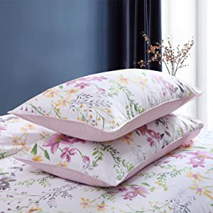 Brandream Home Collections Exquisite Floral Print Luxury Duvet Quilt Cover Cosy & Durable Cotton 800TC Bedding Set King Size