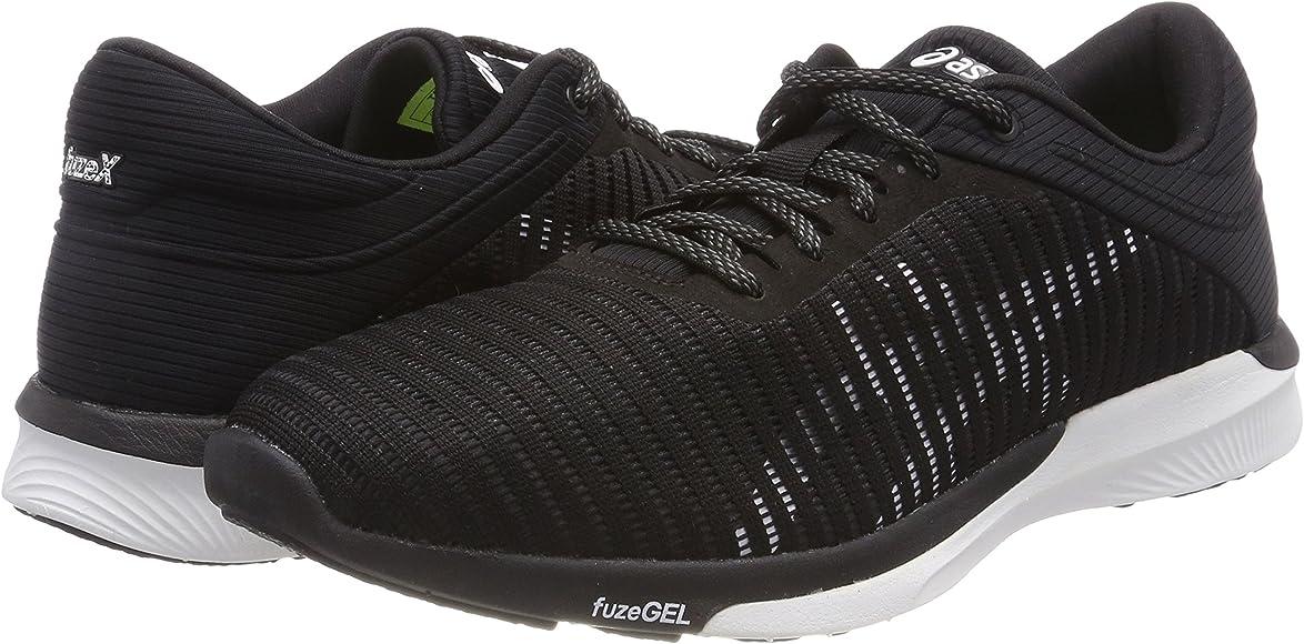 Asics Fuzex Rush Adapt, Zapatillas de Running para Mujer, Negro ...