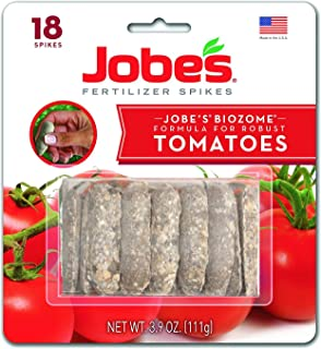 product image for Jobe's Tomato Fertilizer Spikes, 6-18-6 Time Release Fertilizer for All Tomato Plants, 18 Spikes per Blister Package
