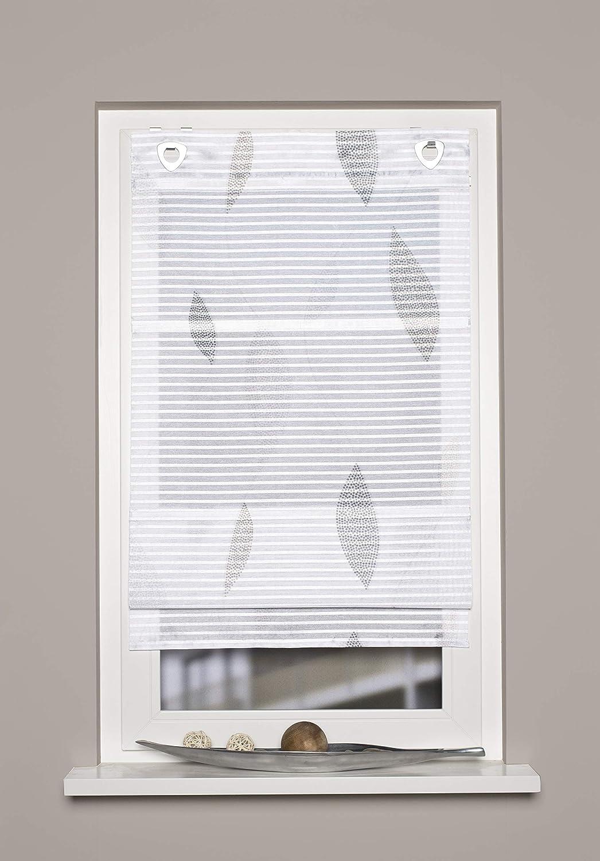130 X 80 cm Home Fashion Magnetrollo Querstreifen Digitaldruck Paolo Stein