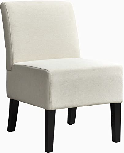 AC Pacific Samantha Collection Modern Upholstered Armless Slipper Chair