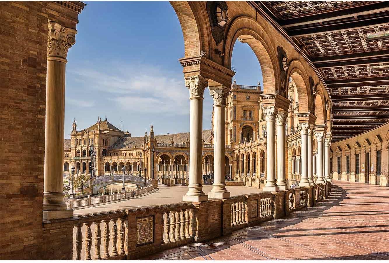 Oedim Cuadro Lienzo Impresión Digital Urbano Plaza España Sevilla | Multicolor | Cuadro Lienzo 150 x 60 cm | Lienzo Enmarcado Ligero, Resistente y Económico: Amazon.es: Hogar