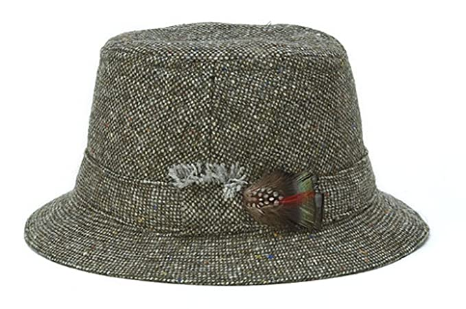 1960s – 70s Style Men's Hats Hanna Hats Mens Donegal Tweed Original Irish Walking Hat $59.99 AT vintagedancer.com