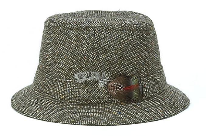 Retro Clothing for Men | Vintage Men's Fashion Hanna Hats Mens Donegal Tweed Original Irish Walking Hat $59.99 AT vintagedancer.com