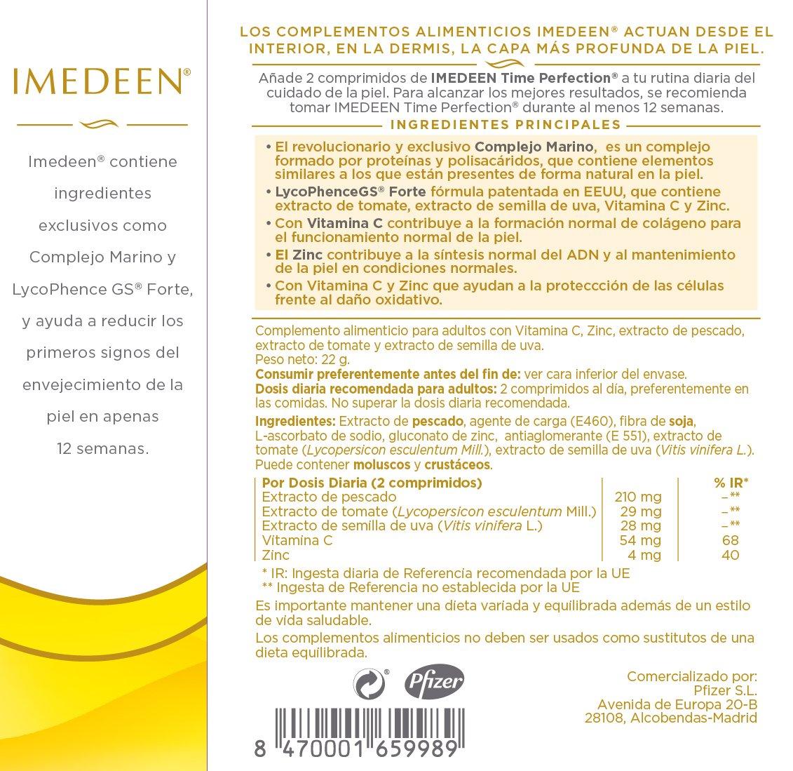 Imedeen Time Perfection, Complemento Alimenticio Antiedad - Pack 3 x 60 comprimidos: Amazon.es: Salud y cuidado personal