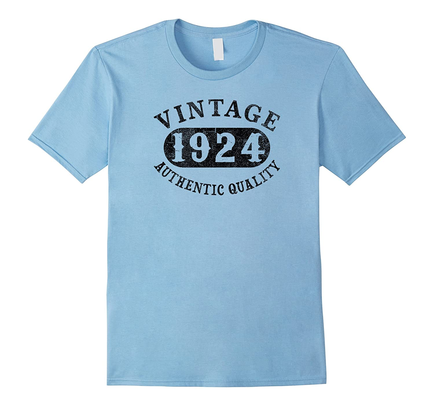 1924 Vintage 93 years old 93rd B-day Birthday Gift T-Shirt-PL