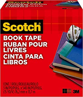 product image for Scotch Book Tape 845, 3 Inches x 15 Yards - FF084574