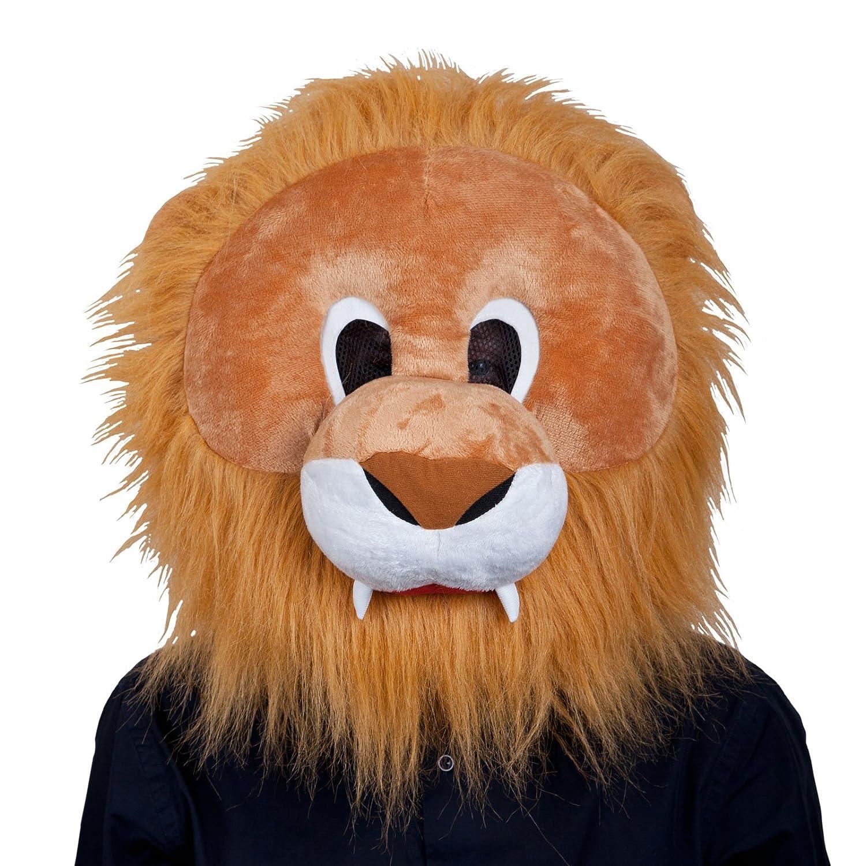 Los adultos de la felpa de la cabeza del león máscara de Halloween Fancy Dress Party Up accesorio del traje nuevo: Amazon.es: Ropa y accesorios