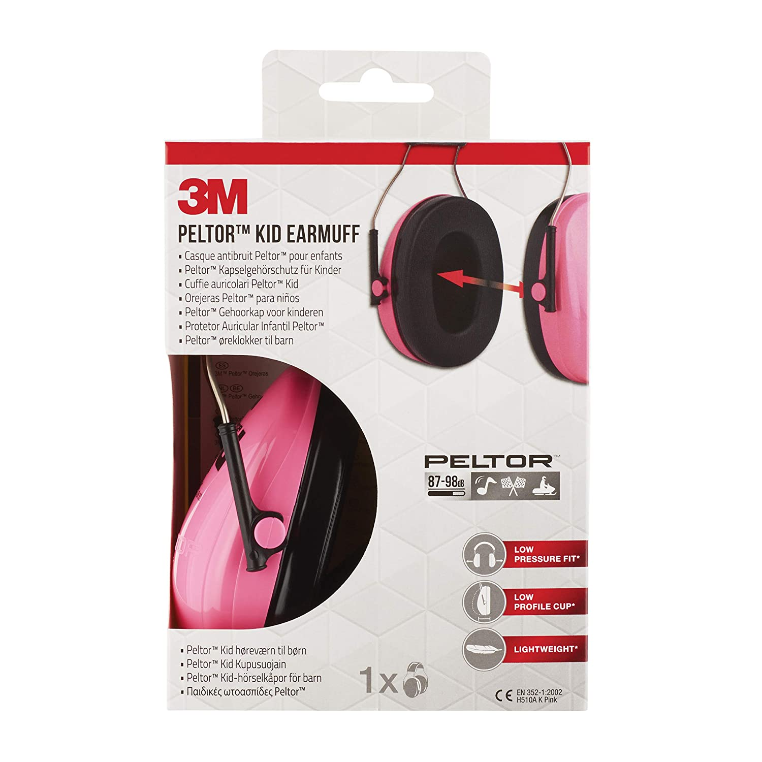 5bb8fb236bfa8 Amazon.com  3M Peltor Kid H510AKPC Ear Protectors for Children Aged 2 and  Above   Noise Level Up to 98 dB   Very Lightweight   Neon Pink  Home Audio    ...
