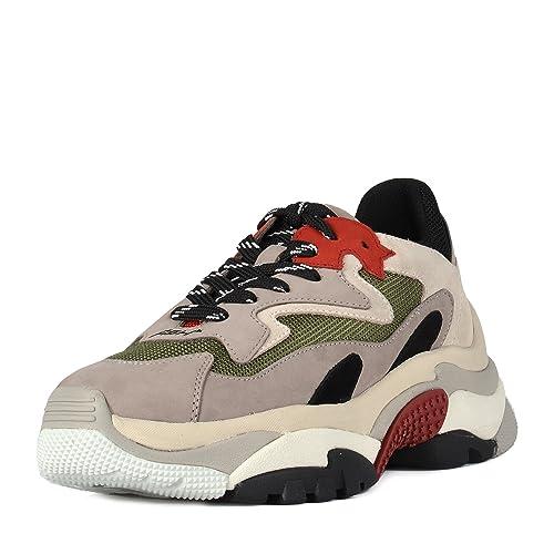 best website ae0f6 cbe6b Ash Scarpe Addict Sneaker Grigio e Rosso Donna Amazon.it Scarpe e borse