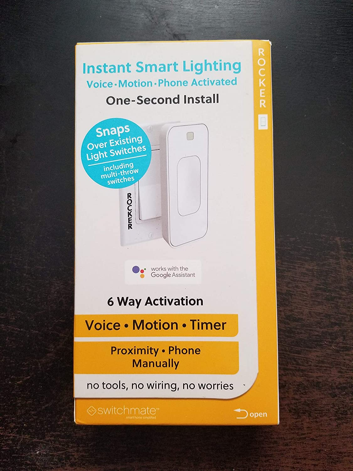 Switchmate RSM003W Motion Activated Instant Smart Light Switch Rocker That Listens 3.0 (White) + 1 Year Extended Warranty