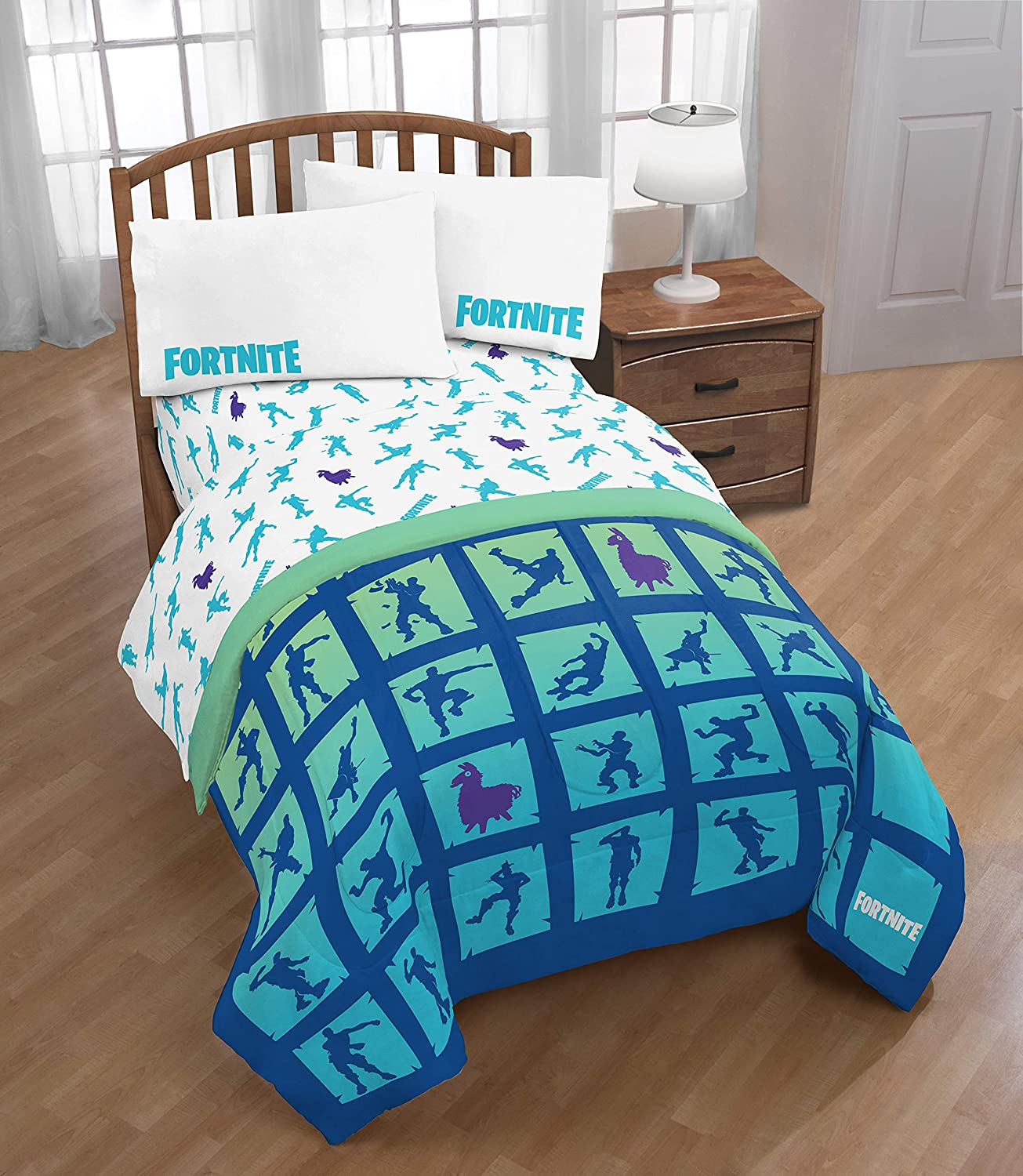 Jay Franco Fort 5-Piece Twin Comforter and Sheet Set Bedding Collection