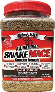 product image for Nature's Mace Snake Repellent 2.5LB Granular/Covers 1,200 Sq. Ft. / Keep Snakes Out of Your Garden, Yard, Home, attic and More/Snake Repellent/Safe to use Around Home, Children, Plants
