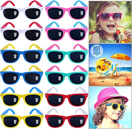 Amazon.com: GINMIC - Gafas de sol para niños, paquete de 12 ...