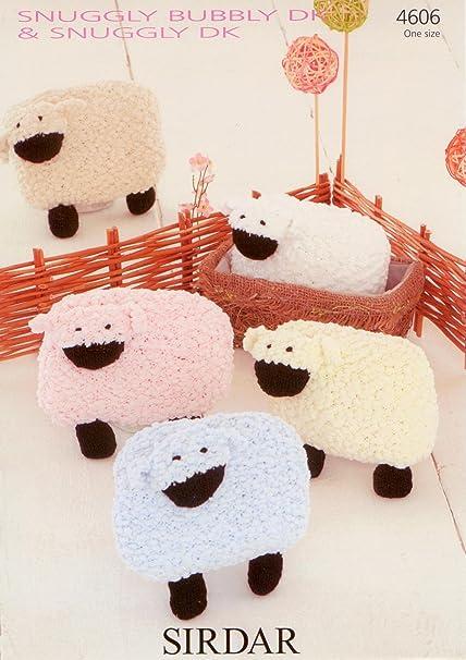 Sirdar 4606 Knitting Pattern Toy Lamb In Sirdar Snuggly Bubbly Dk