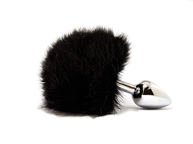 7d1e1e5a2d9 Amazon.com  Black bunny tail butt plug BDSM sex toy in gift box ...