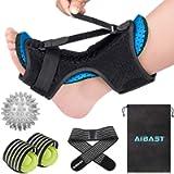 2020 New Upgraded Blue Night Splint for Plantar Fascitis, AiBast Multi Adjustable Ankle Brace Foot Drop Orthotic Brace…