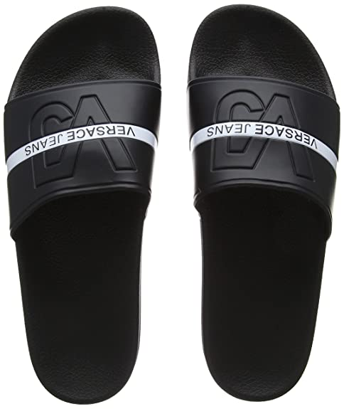 Versace Jeans Scarpa, Chanclas para Hombre, Negro (Nero E899), 39 EU