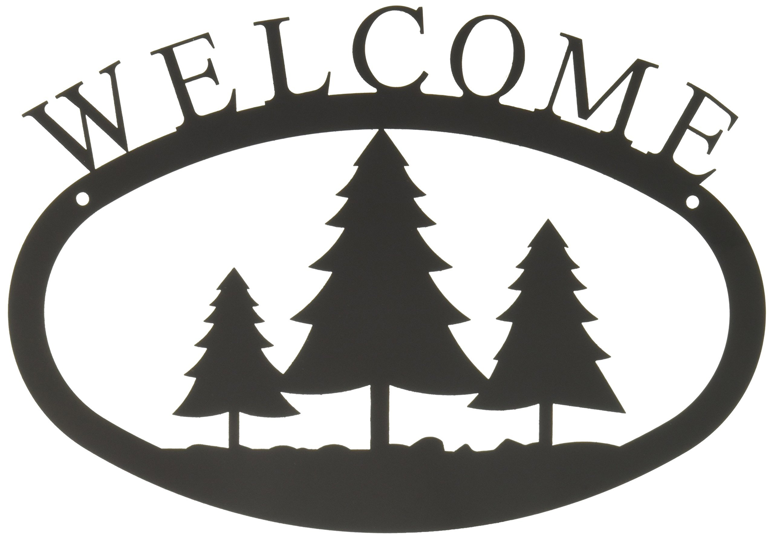 11 Inch Pine Trees Welcome Sign Small
