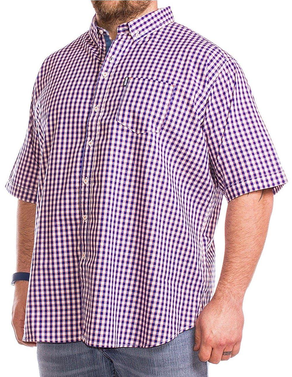 Lambretta Big para hombre bolígrafo naranja y azul check camiseta 2 X L 3 X L 4 X L 5 X L Azul azul XXXXX-Large: Amazon.es: Ropa y accesorios