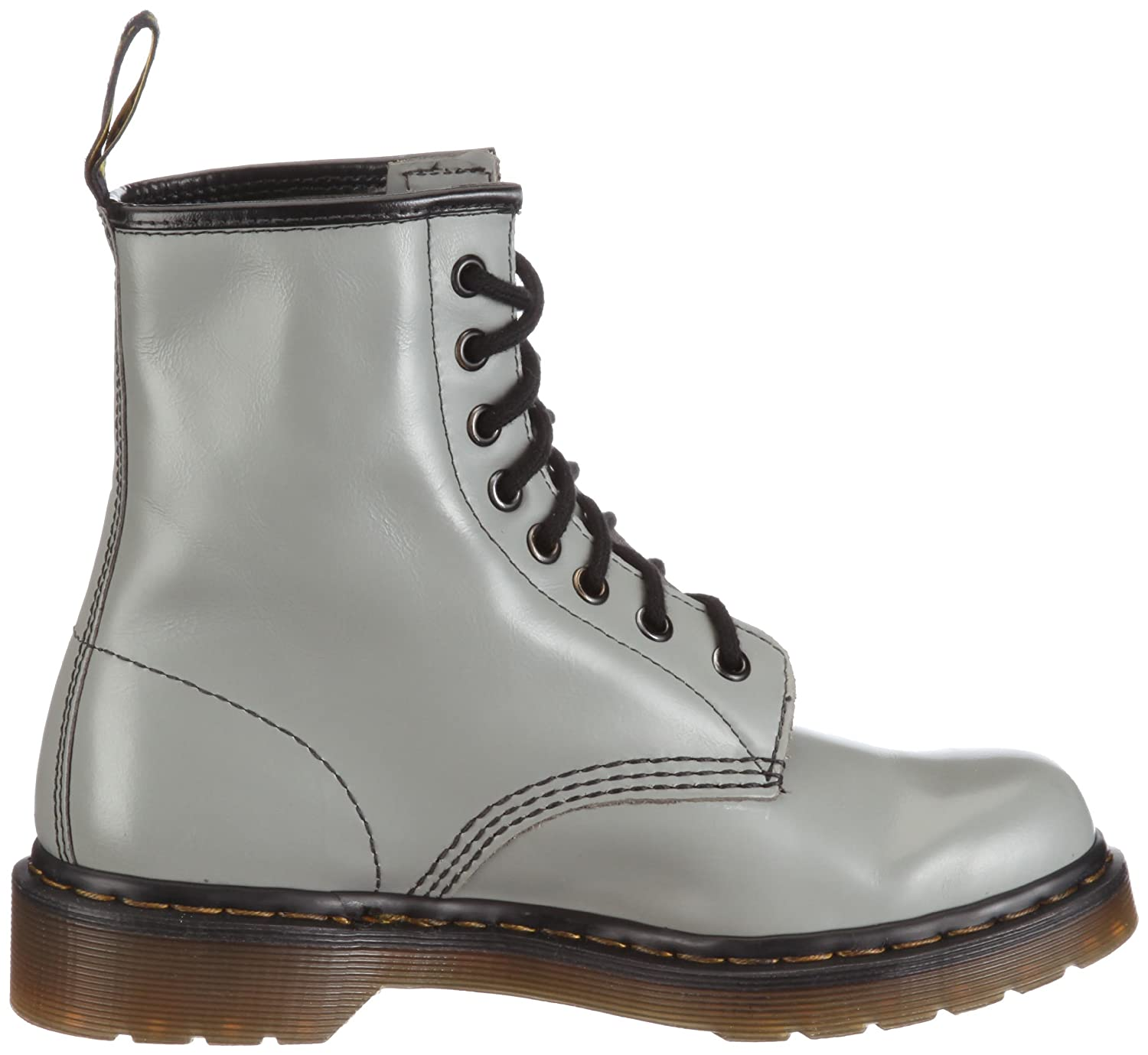 Dr. Martens 1460 8 Eye Boot BROWN 11822212 Unisex - Grey) Erwachsene Stiefel Grigio (Smooth Grey) - 3b17e3