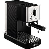 Krups XP344040 Calvi Manual Espresso Steam and Pump Coffee Machine, 1500 W, Black (Renewed)