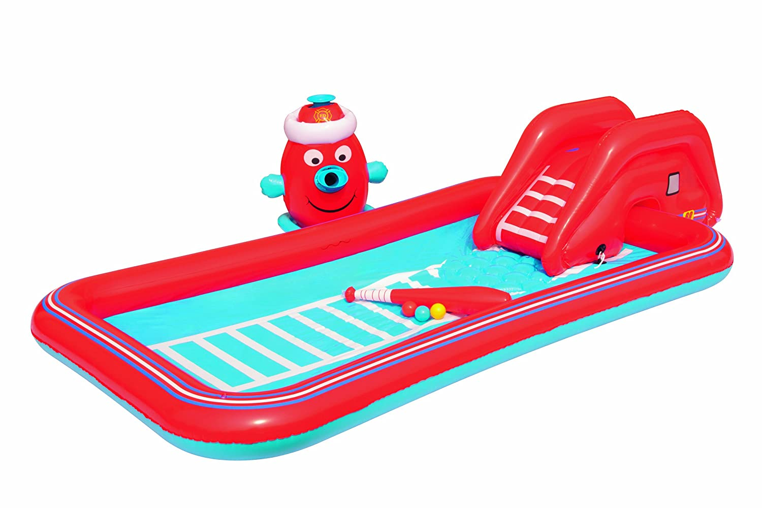 Bestway 53047 - Planschbecken Interactive Fire Truck Play Pool, 251 x 124 x 51 cm