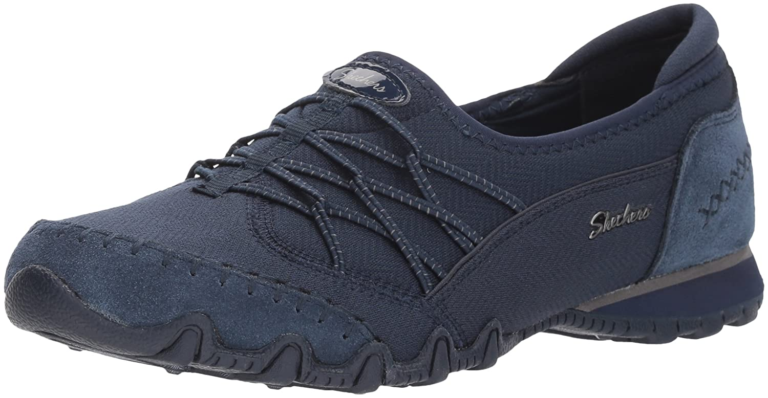 Skechers Women's Bikers Digits-Double Bungee Closure Slip-on-Relaxed Fit Sneaker B079K24DBC 9.5 B(M) US|Navy