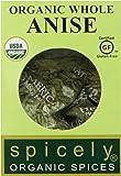Spicely Organic Anise Seeds Whole - EcoBox - Gluten Free - Non GMO - Vegan - Kosher