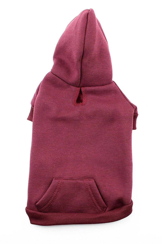 Hoodie Dog Sweatshirt by Midlee (Medium, Maroon)