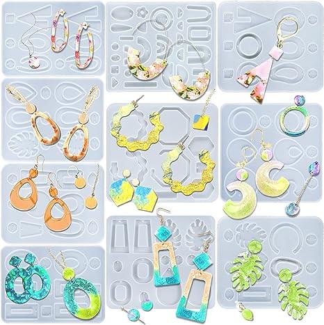jewelry mold casting  mold handmade earrings Dangle earrings resin mold drop flower square earrings hoop earrings silicone mold