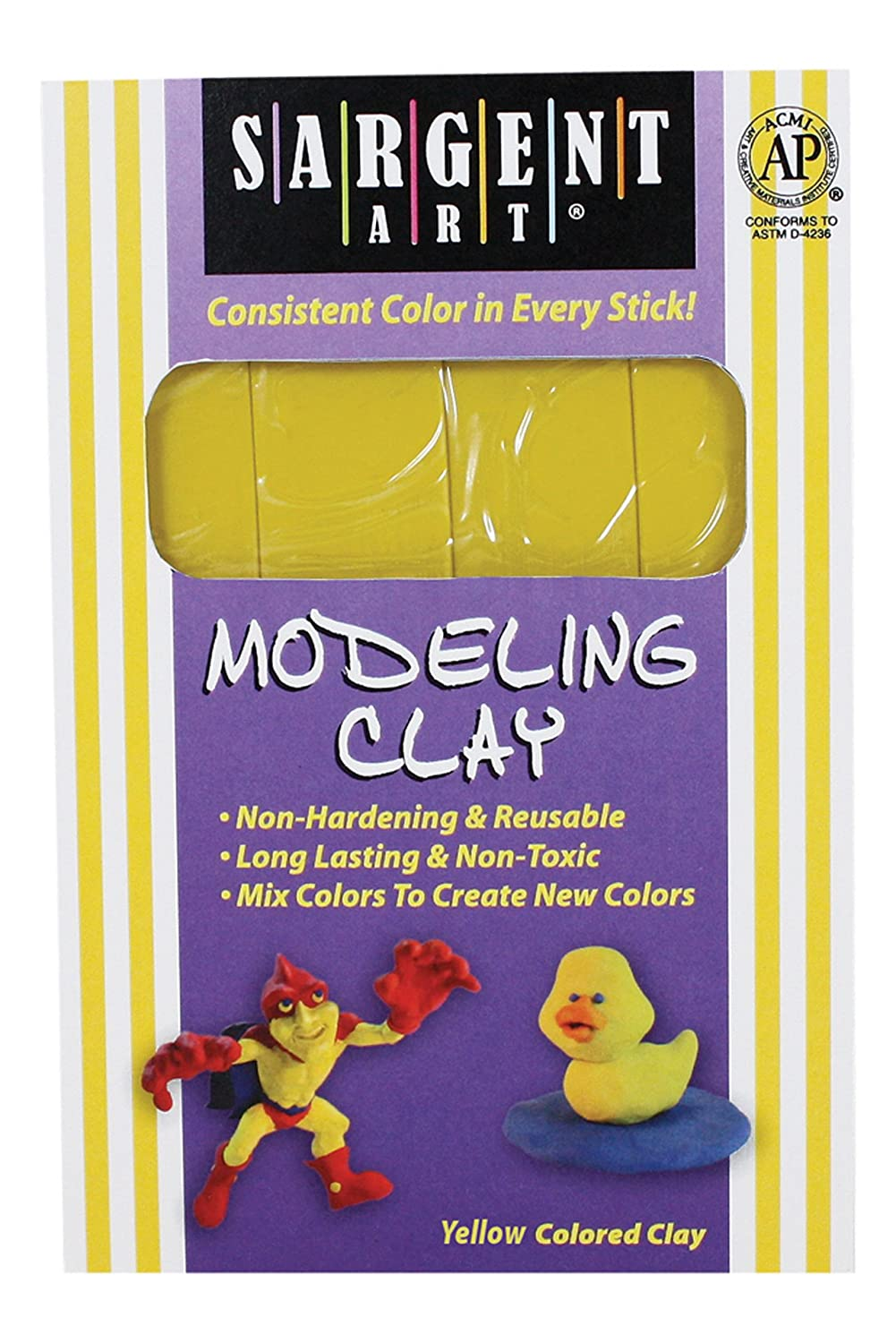 Sargent Art 22-4002 1-Pound Solid Color Modeling Clay, Yellow by Sargent Art B003FGVNPW