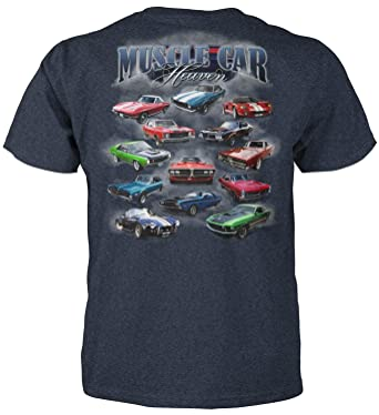 Amazon Com Superb Selection Muscle Car Heaven T Shirt Clothing