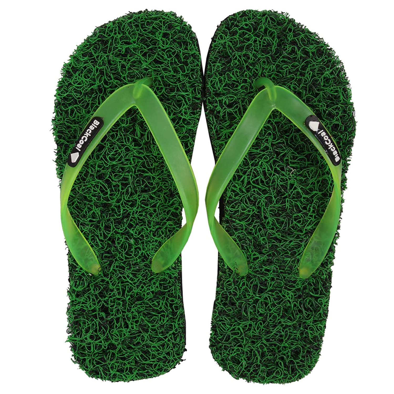 9f62c82f665f BlackCoal Men s RUbber Man Grass Flip Flops FFM99 - 7 UK(Green)  Buy Online  at Low Prices in India - Amazon.in