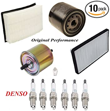 Amazon Com 8usauto Tune Up Kit Air Cabin Oil Fuel Filters Spark