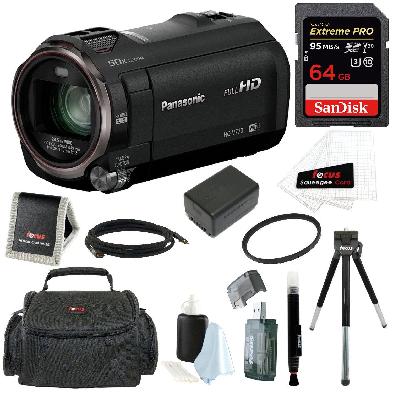 Panasonic HC-V770 HD Camcorder Bundles (64GB Premium Kit) by Panasonic