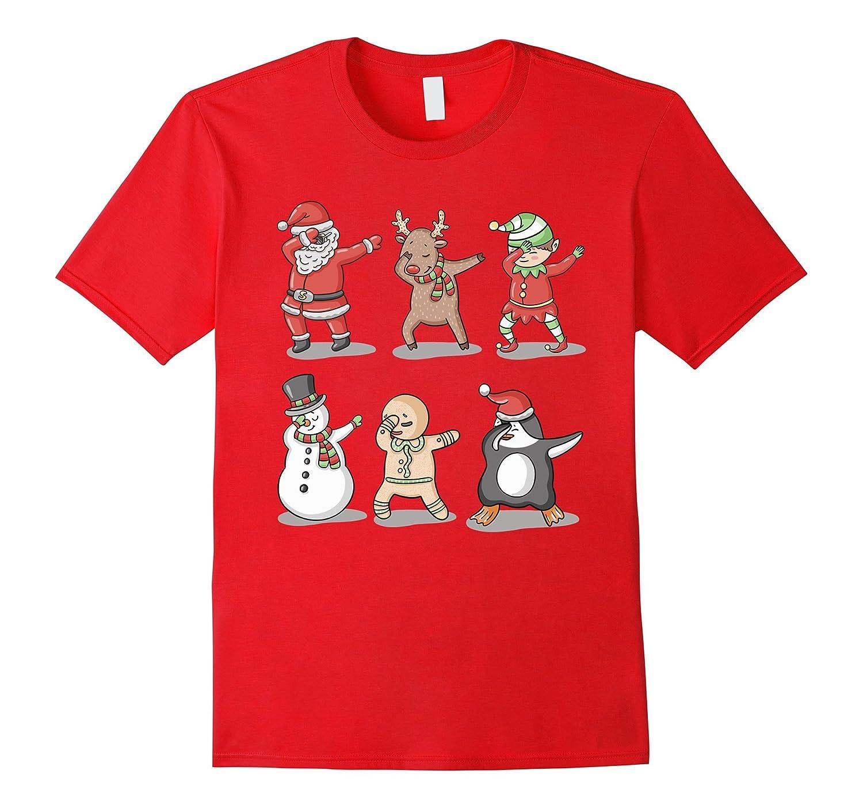 Dabbing Santa Ugly Sweater T-Shirt, Funny Christmas Shirt-ANZ