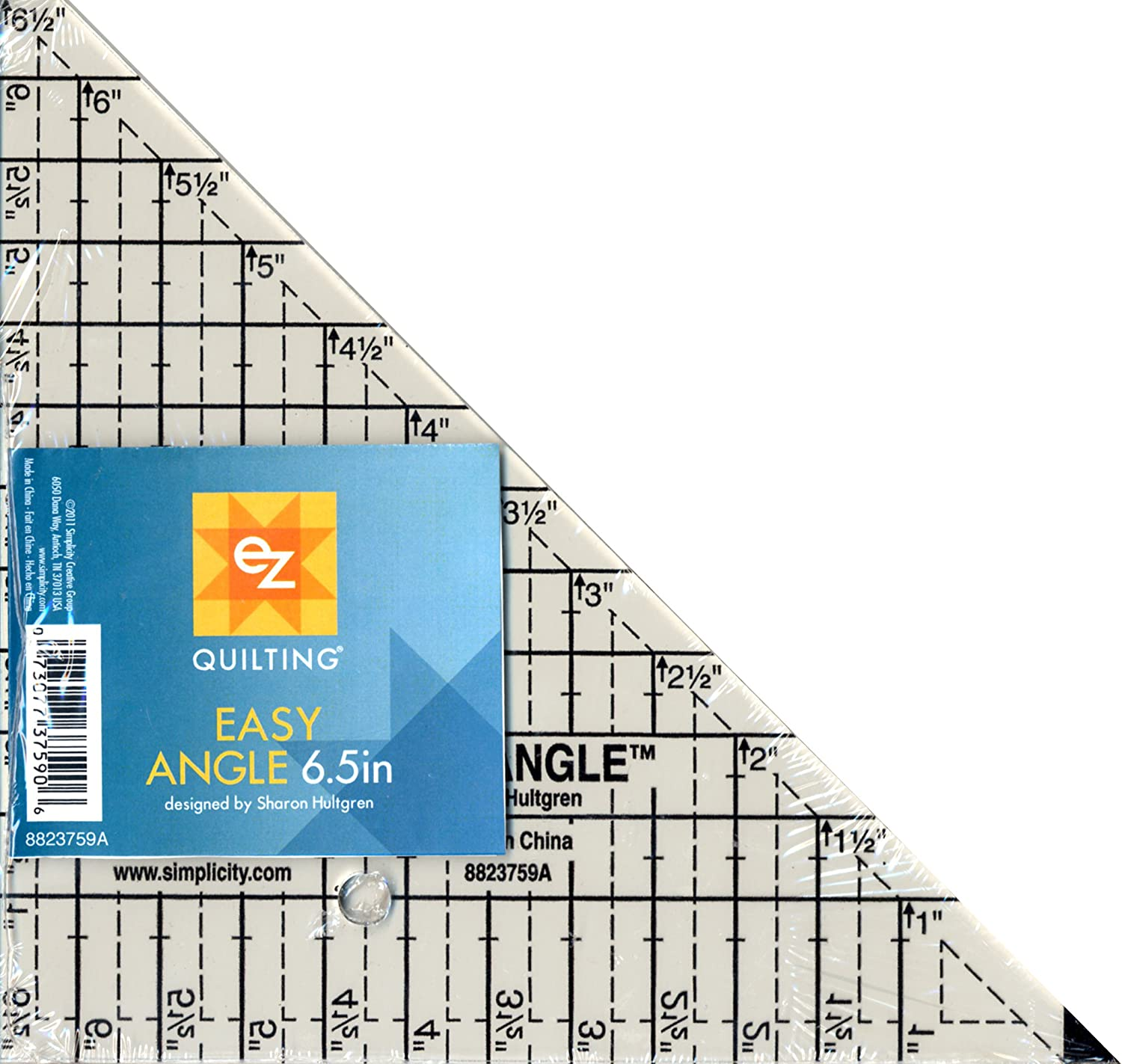 EZ Quilting Easy Angle Acrylic Template, 6.5-inch Simplicity 8823759