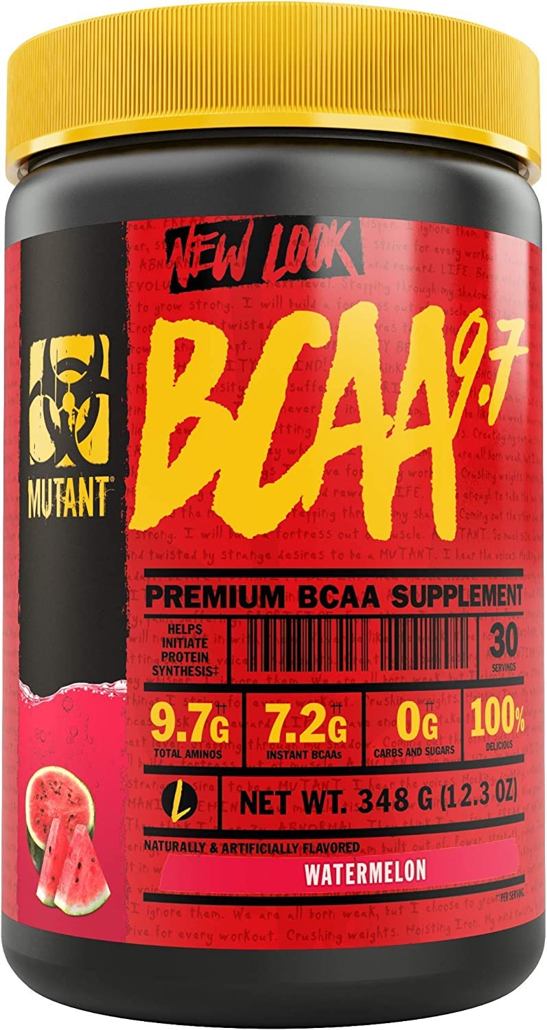Mutant BCAA 9.7 Supplement BCAA Powder with Micronized Amino Energy Support Stack, 348g – Watermelon