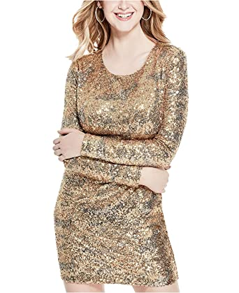 9dcc431d Guess Women's Klara Sequined Dress Gold Multi 8 at Amazon Women's Clothing  store:
