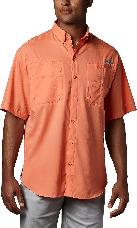 Columbia Sportswear Men's Big Tamiami II Short Sleeve Shirt, Bright Peach, 2X
