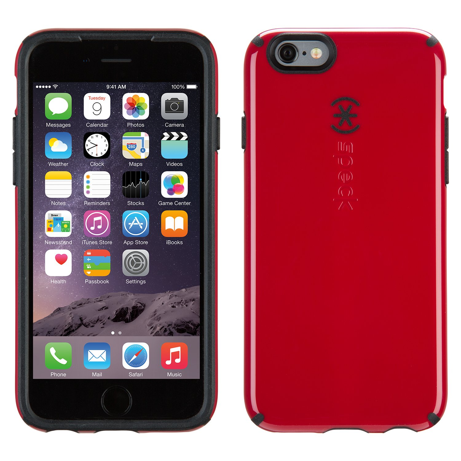 Amazon IPhone 6S Case And 6 By Speck Products CandyShell Protective Pomodoro Red Black Cell Phones Accessories