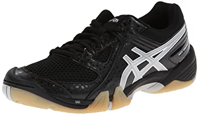 ASICS Women's Gel Dominion Volley Ball Shoe,Black/Silver/White,5.5 M