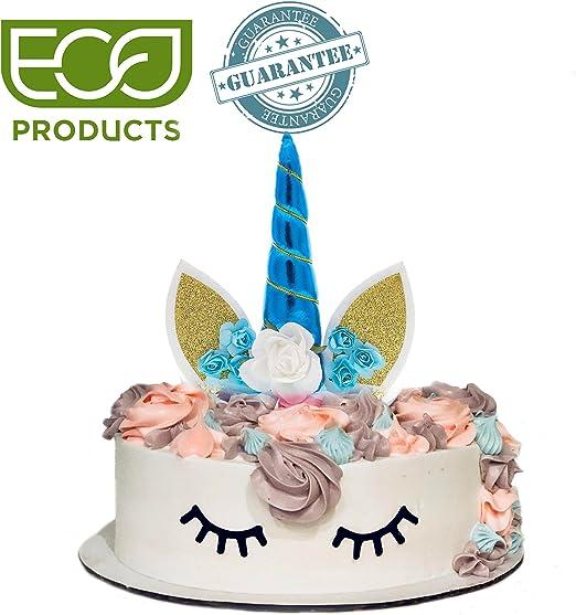 Amazon.com: Tarta toppers-unicorn tarta de cumpleaños ...