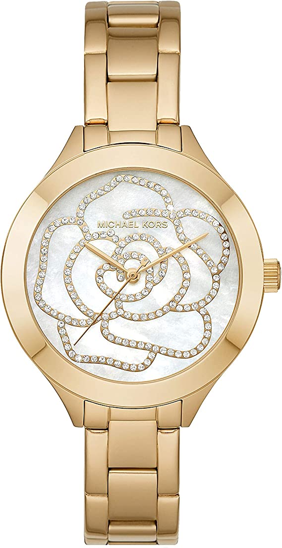 Michael Kors Women's Slim Runway Gold Tone Stainless Steel Watch MK3992