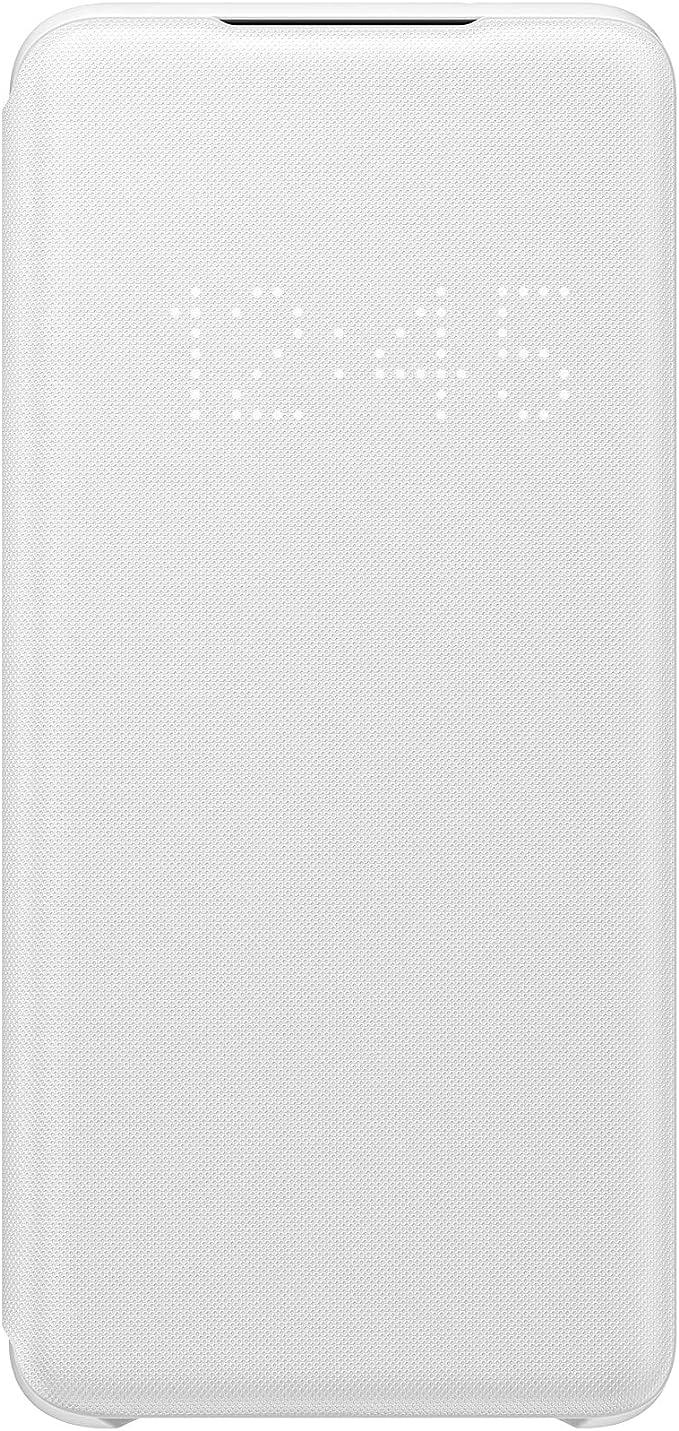 Samsung Led View Smartphone Cover Ef Ng980 Für Galaxy S20 S20 5g Handy Hülle Led Anzeige Kartenhalterung Weiß Elektronik