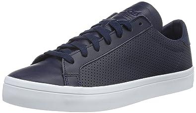adidas Court Vantage, Baskets Basses Homme, Bleu (Collegiate  Navy/Collegiate Navy/