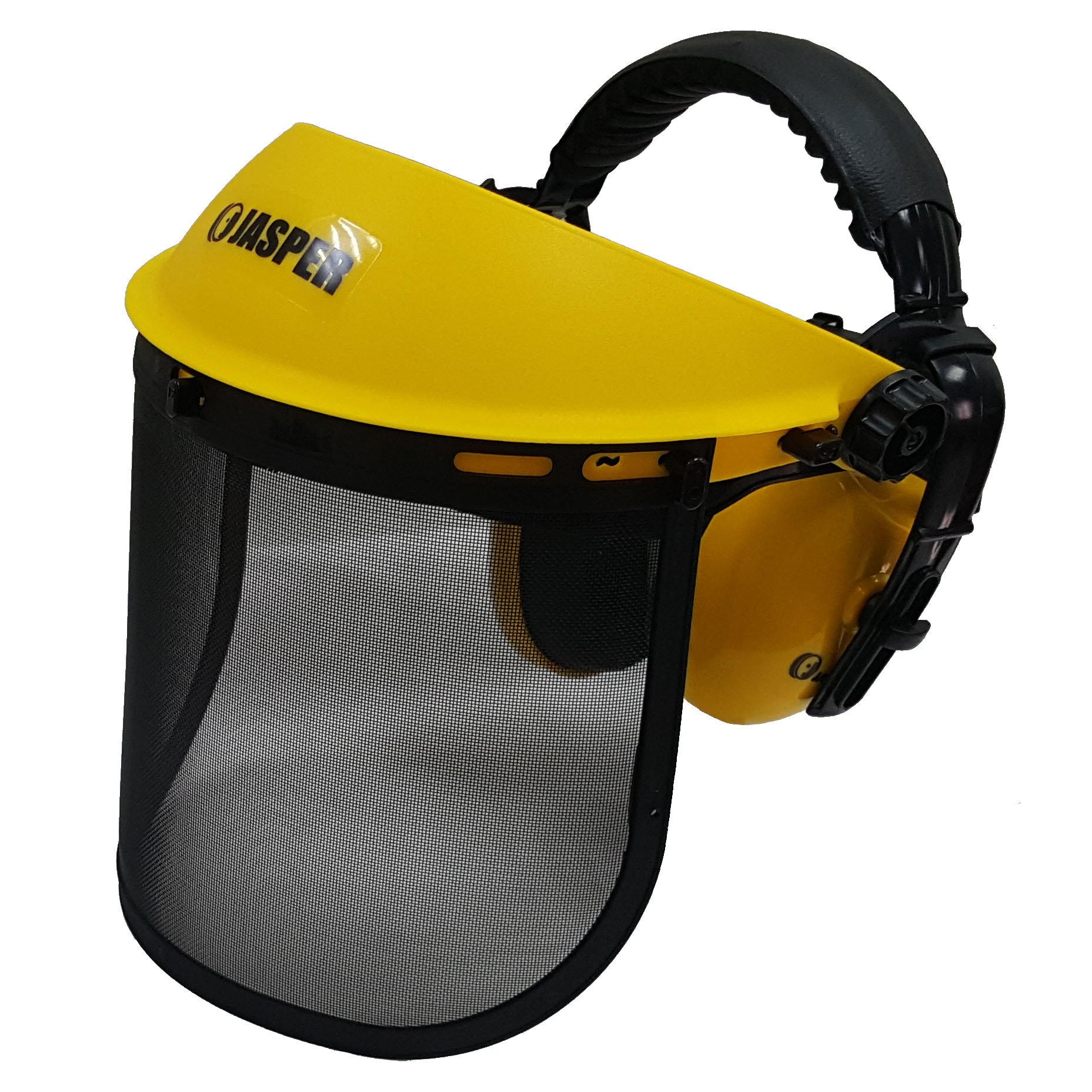 Jasper Browguard Face Shield Mesh Visor with Ear Muffs - ANSI Z87.1 CE EN1731 by Jasper (Image #5)