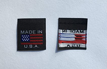 c88549856f53 Amazon.com: 100 pcs Black American Flag Made in USA - Red White ...