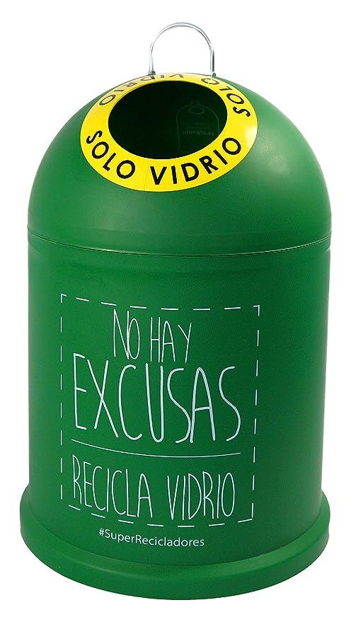 Miniglu Mini, Contenedor para Reciclaje de Vidrio, 45 x 29 x 29 cm ...